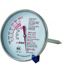 Winco TMT- MT3 Dial Type Meat Thermometer with Stem 3""