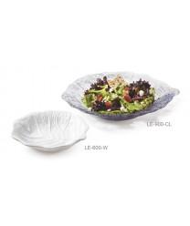 "GET Enterprises LE-600-CL Mediterranean Clear Leaf Platter, 6""(2 Dozen)"