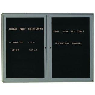 Aarco RAD3648GB Radius Design Enclosed Directory Board with Medium Grey Frame 36