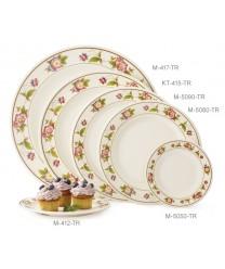 "GET Enterprises KT-415-TR Tea Rose Melamine Round Plate, 12""(1 Dozen)"