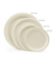 """GET Enterprises NP-9-DI Diamond Ivory Narrow Rim Plate, 9""""(2 Dozen)"""