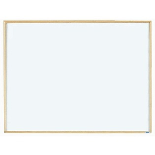 """Aarco EW1218 Economy Series White Melamine Markerboard with Wood Frame 12"""" x 18"""""""
