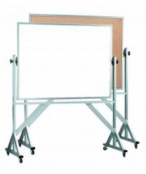 "Aarco WACB3648 Reversible Free Standing Melamine Markerboard / Natural Cork Board 36"" x 48"""