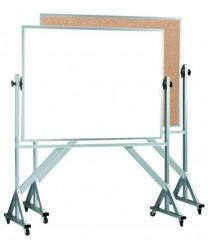 "Aarco WACB4260 Reversible Free Standing Melamine Markerboard / Natural Cork Board 42"" x 60"""