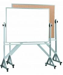 "Aarco WACB4872 Reversible Free Standing Melamine Markerboard / Natural Cork Board 48"" x 72"""