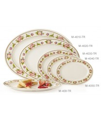 "GET Enterprises M-408-TR Tea Rose Melamine Oval Platter, 9""(1 Dozen)"