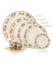 "GET Enterprises M-412-TR Tea Rose Melamine Plate, 6""(1 Dozen)"