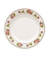 "GET Enterprises M-5050-TR Tea Rose Melamine Plate, 8""(1 Dozen)"