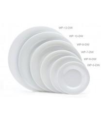 """GET Enterprises WP-12-DW Diamond White Wide Rim Plate, 12""""(1 Dozen)"""