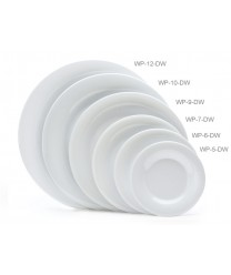 "GET Enterprises WP-5-DW Diamond White Wide Rim Plate, 5-1/2""(4 Dozen)"