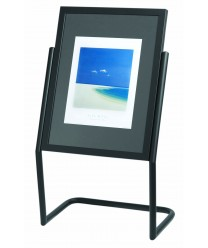 Aarco P-15BK Broadcaster Display Menu and Poster Holder with Black Base and Frame