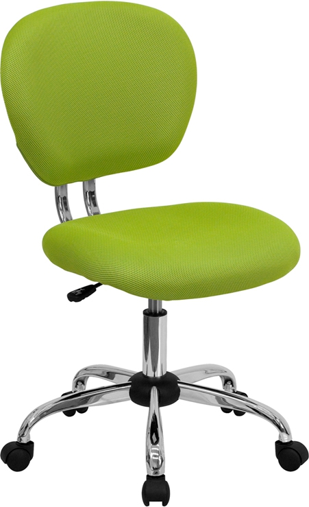 Flash Furniture Mid-Back Apple Green Mesh Task Chair with Chrome Base [H-2376-F-GN-GG]