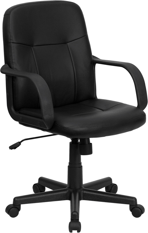 Flash Furniture Mid-Back Black Glove Vinyl Executive Office Chair [H8020-GG]