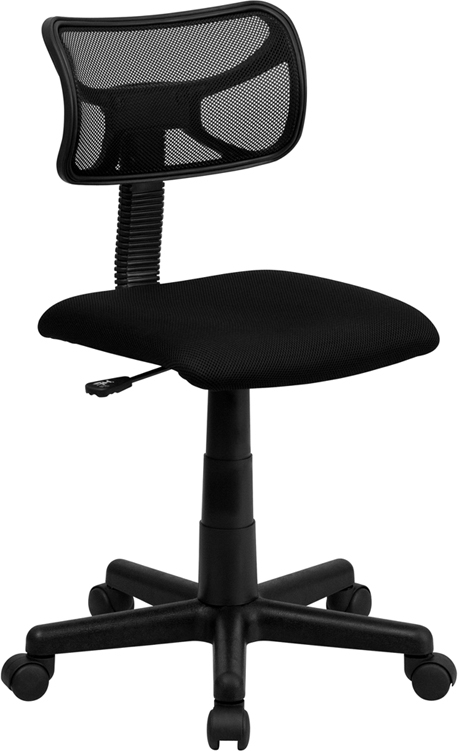 Flash Furniture Mid-Back Black Mesh Task Chair [BT-6138-1-BK-GG]