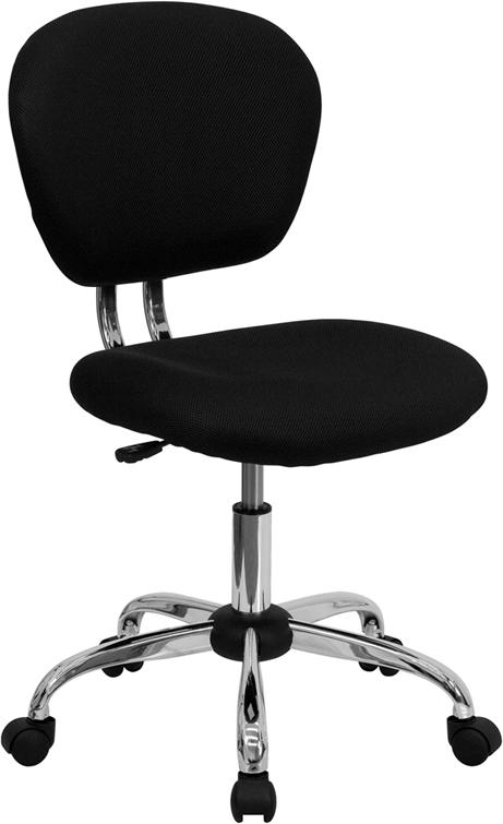 Flash Furniture Mid-Back Black Mesh Task Chair with Chrome Base [H-2376-F-BK-GG]