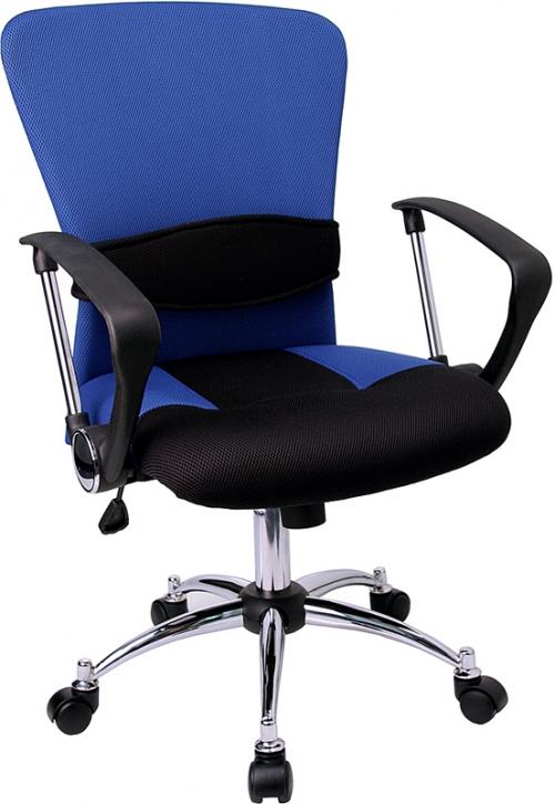 Flash Furniture Mid-Back Blue Mesh Office Chair [LF-W23-BLUE-GG]