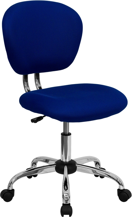Flash Furniture Mid-Back Blue Mesh Task Chair with Chrome Base [H-2376-F-BLUE-GG]