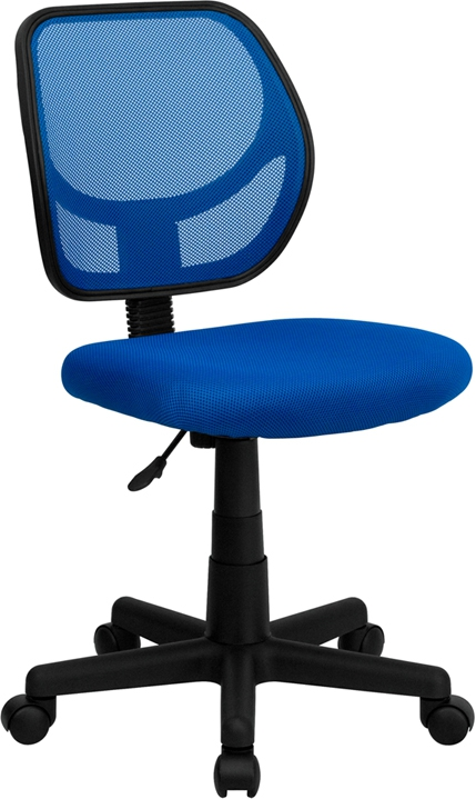 Flash Furniture Mid-Back Blue Mesh Task Chair and Computer Chair [WA-3074-BL-GG]