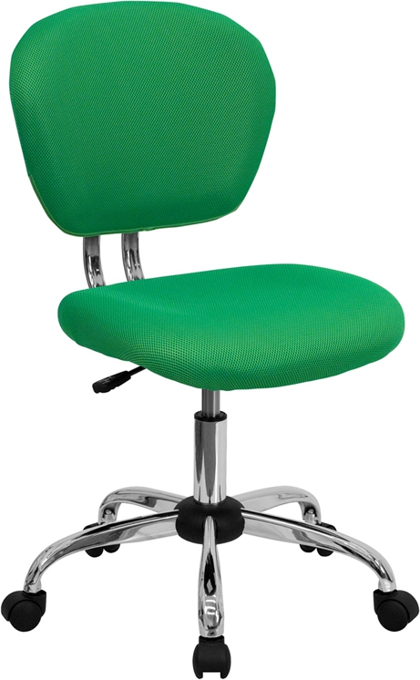 Flash Furniture Mid-Back Bright Green Mesh Task Chair with Chrome Base [H-2376-F-BRGRN-GG]