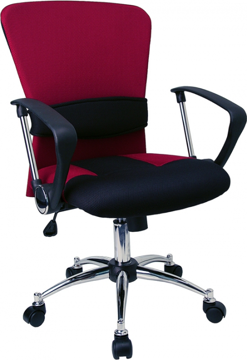 Flash Furniture Mid-Back Burgundy Mesh Office Chair [LF-W23-RED-GG]