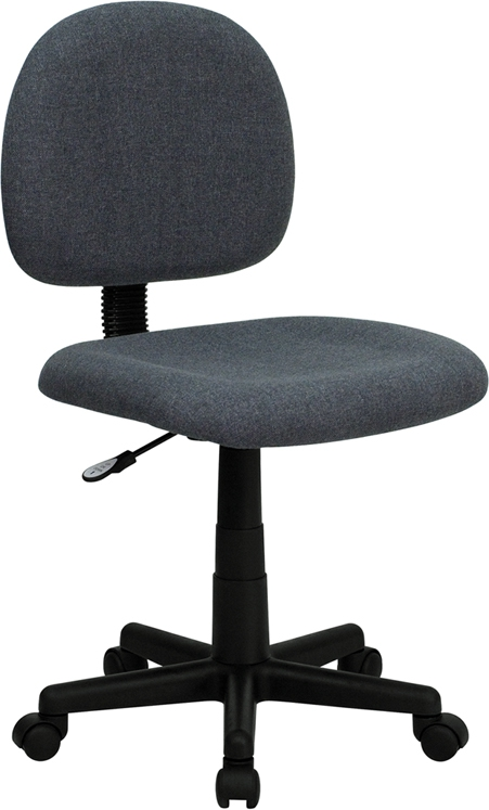 Flash Furniture Mid-Back Ergonomic Gray Fabric Task Chair [BT-660-GY-GG]