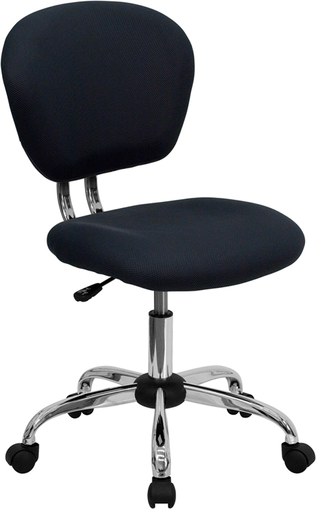 Flash Furniture Mid-Back Gray Mesh Task Chair with Chrome Base [H-2376-F-GY-GG]