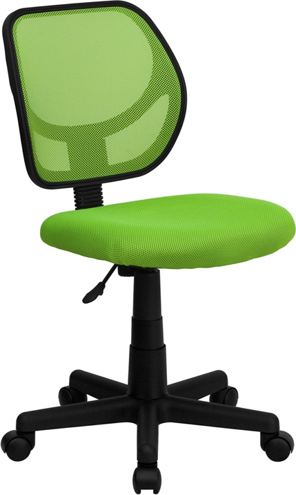 Flash Furniture Mid-Back Green Mesh Task Chair and Computer Chair [WA-3074-GN-GG]