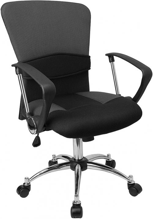 Flash Furniture Mid-Back Grey Mesh Office Chair [LF-W23-GREY-GG]