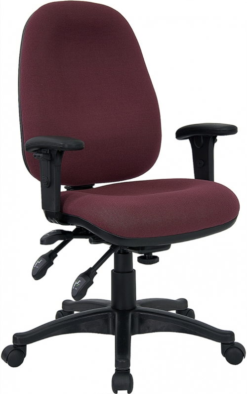 Flash Furniture Mid-Back Multi-Functional Burgundy Fabric Swivel Computer Chair [BT-662-BY-GG]