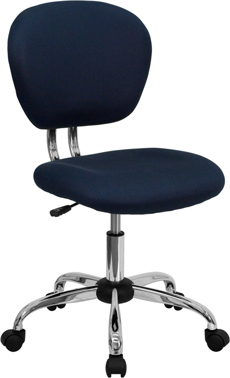 Flash Furniture Mid-Back Navy Mesh Task Chair with Chrome Base [H-2376-F-NAVY-GG]