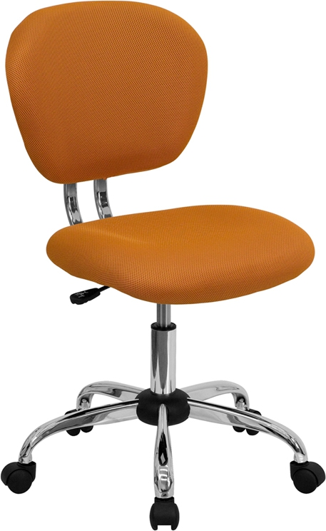 Flash Furniture Mid-Back Orange Mesh Task Chair with Chrome Base [H-2376-F-ORG-GG]