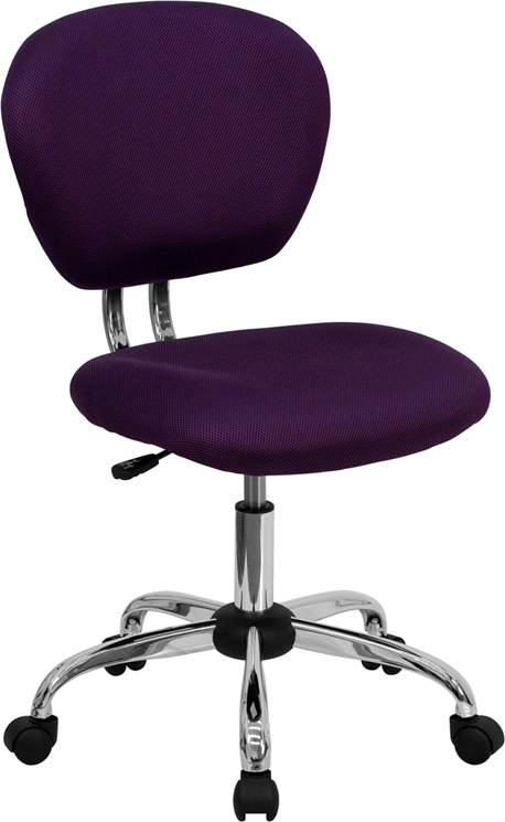 Flash Furniture Mid-Back Purple Mesh Task Chair with Chrome Base [H-2376-F-PUR-GG]