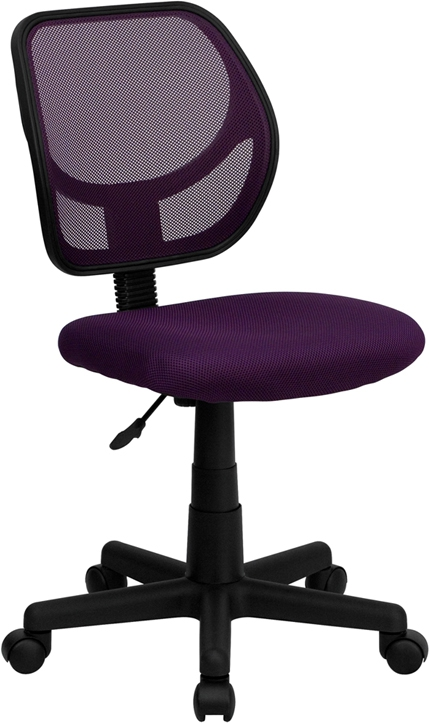 Flash Furniture Mid-Back Purple Mesh Task Chair and Computer Chair [WA-3074-PUR-GG]