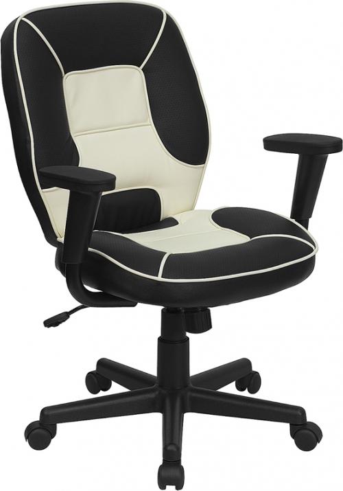 Flash Furniture Mid-Back Vinyl Steno Executive Office Chair [BT-2922-BK-GG]