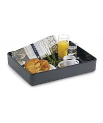 "GET Enterprises ML-86-BK Milano Black Rectangular Bowl, 12""x 16""(6 Pieces)"