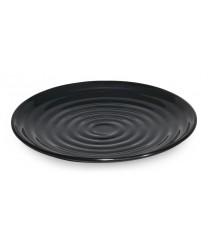 "GET Enterprises ML-80-BK Milano Black Round Plate, 7-1/2""(1 Dozen)"