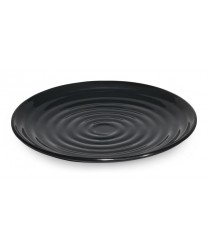 "GET Enterprises ML-81-BK Milano Black Round Plate, 9-1/2""(1 Dozen)"