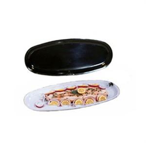 """GET Enterprises OP-2280-BK Milano Black Oval Platter, 22-1/2""""x 8""""(6 Pieces)"""