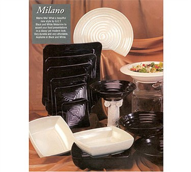 "GET Enterprises ML-87-W Milano White Rectangular Display Tray, 17-1/2""x 6-3/4""(6 Pieces)"