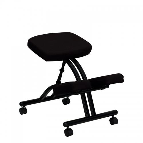 Flash Furniture Mobile Ergonomic Kneeling Chair in Black Fabric [WL-1420-GG]