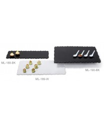 "GET Enterprises ML-188-BK Modern Edge Black Rectangular Display Tray, 23-3/4""x 9-1/2"