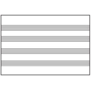 "Aarco MS1204872 Specialty Markerboard with Permanently Fused Music Lines  48"" x 72"""