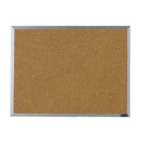 Aarco AB1824G Economy Series Natural Cork Board with Aluminum Frame  18'' X 24''