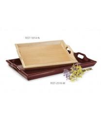 "GET Enterprises RST-1814-N Natural Hardwood Room Service Tray, 18""x 14""(6 Pieces)"