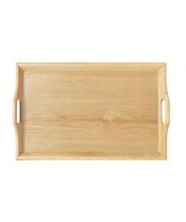 GET Enterprises RST-2516-N Natural Hardwood Room Service Tray, 25