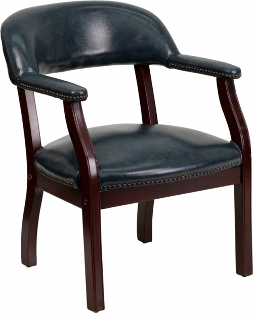 Flash Furniture Navy Vinyl Luxurious Conference Chair [B-Z105-NAVY-GG]