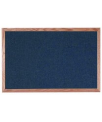 "Aarco OF2436028 Designer Fabric Black Bulletin Board with Oak Frame 24"" x 36"""