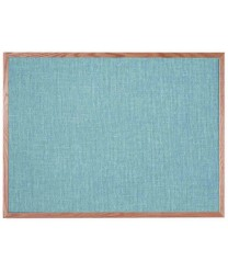 """Aarco OF3648012 Designer Fabric Grey Mix Bulletin Board with Oak Frame 36"""" x 48"""""""