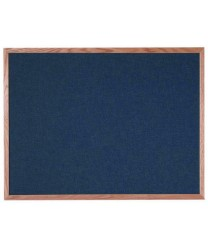 "Aarco OF3648028 Designer Fabric Black Bulletin Board with Oak Frame 36"" x 48"""