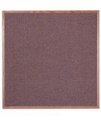 "Aarco OF4848003 Designer Fabric Rose Quartz Bulletin Board with Oak Frame 48"" x 48"""